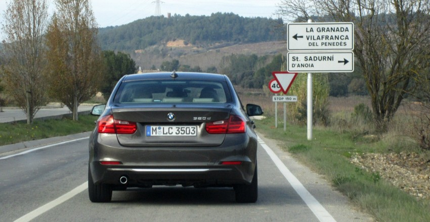 DRIVEN: BMW F30 3 Series – 320d diesel and new four-cylinder turbo 328i sampled in Spain! Image #85258
