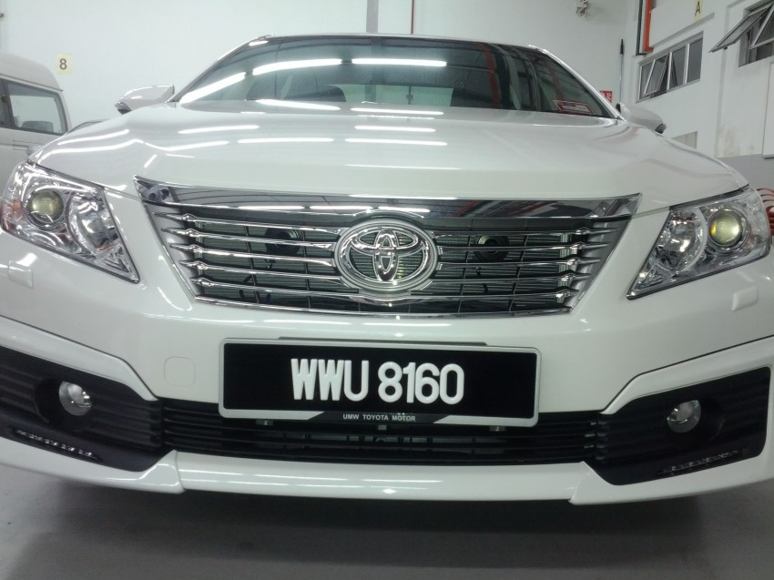 Toyota Camry XV50 snapped with aerokit at showrooms Image #109522