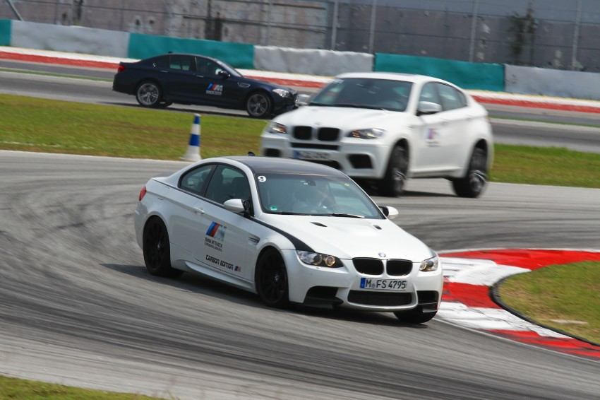 BMW M5 and M3 Coupe driven on track at the BMW M Track Experience Asia 2012, Sepang Image #117089
