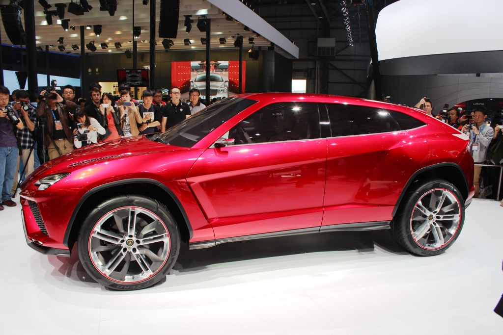 lambo urus concept suv makes world debut in beijing. Black Bedroom Furniture Sets. Home Design Ideas