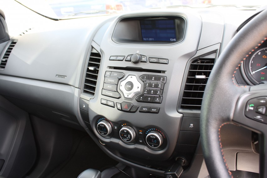 Ford Ranger comes well equipped with creature comforts Image #107022