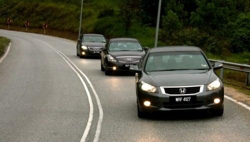 The Japanese Dsegment trinity shootout Honda Accord vs Nissan