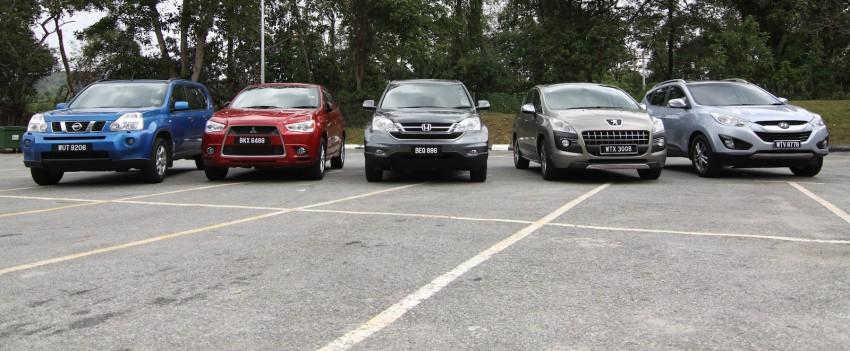 SUV shootout: Mitsubishi ASX vs Nissan X-Trail vs Honda CR-V vs Hyundai Tucson vs Peugeot 3008! Image #80466