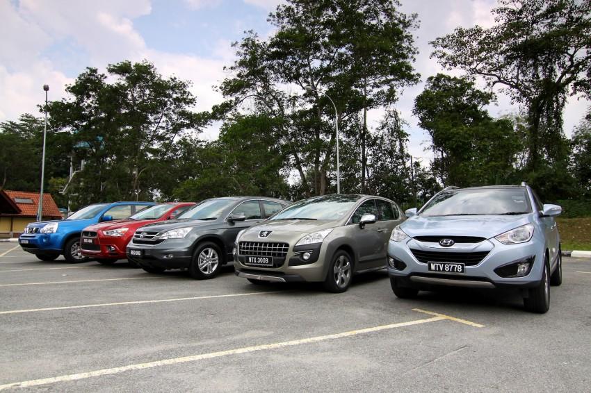 SUV shootout: Mitsubishi ASX vs Nissan X-Trail vs Honda CR-V vs Hyundai Tucson vs Peugeot 3008! Image #80468
