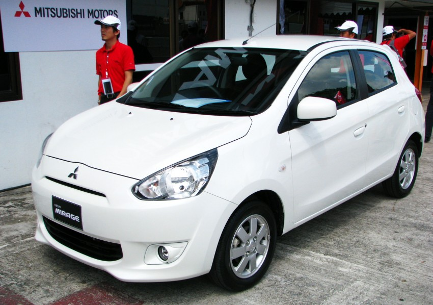 Mitsubishi Mirage previewed, on a Thai race track Image #108984