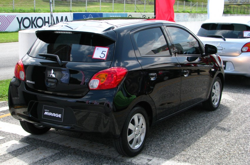 Mitsubishi Mirage previewed, on a Thai race track Image #108986