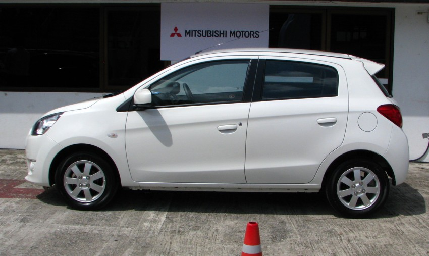 Mitsubishi Mirage previewed, on a Thai race track Image #108987