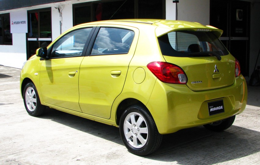 Mitsubishi Mirage previewed, on a Thai race track Image #108989