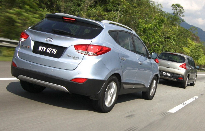 SUV shootout: Mitsubishi ASX vs Nissan X-Trail vs Honda CR-V vs Hyundai Tucson vs Peugeot 3008! Image #80372