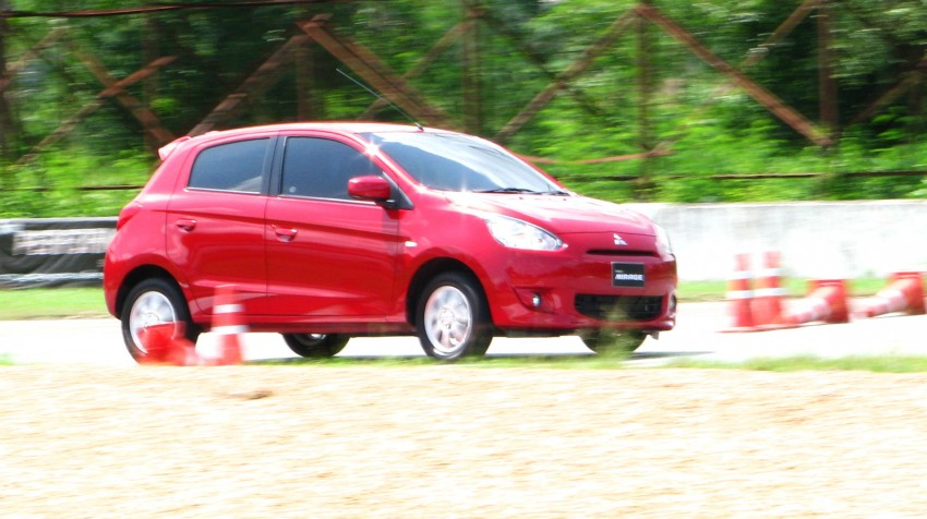 Mitsubishi Mirage previewed, on a Thai race track Image #108998