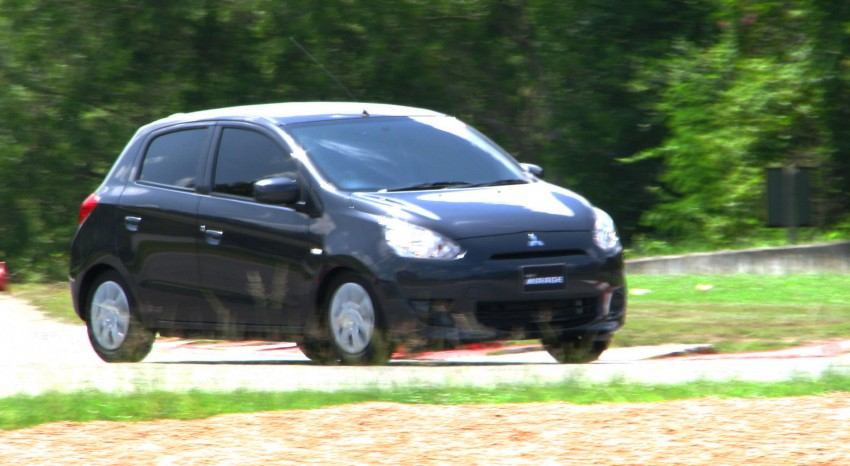 Mitsubishi Mirage previewed, on a Thai race track Image #109001