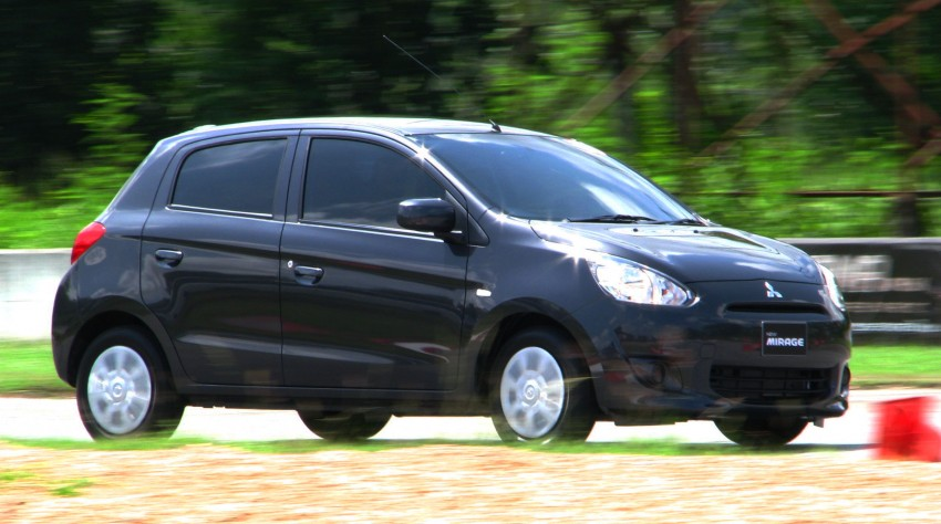 Mitsubishi Mirage previewed, on a Thai race track Image #109002