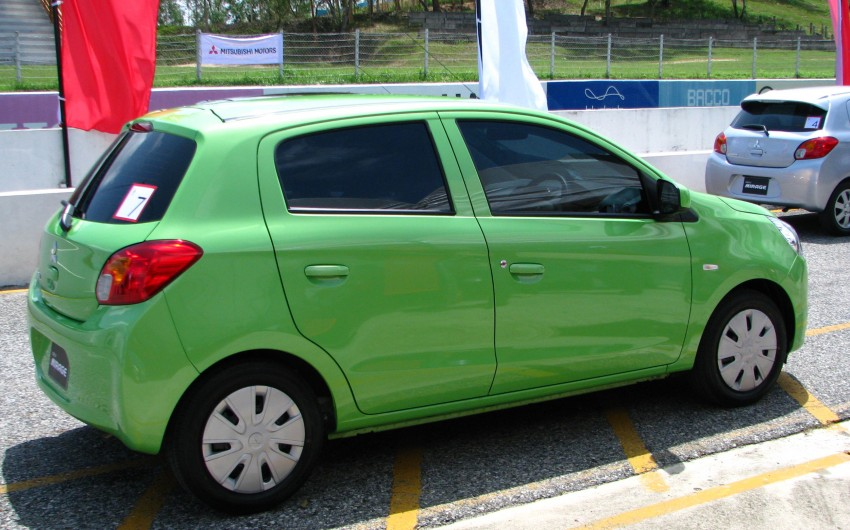 Mitsubishi Mirage previewed, on a Thai race track Image #108996