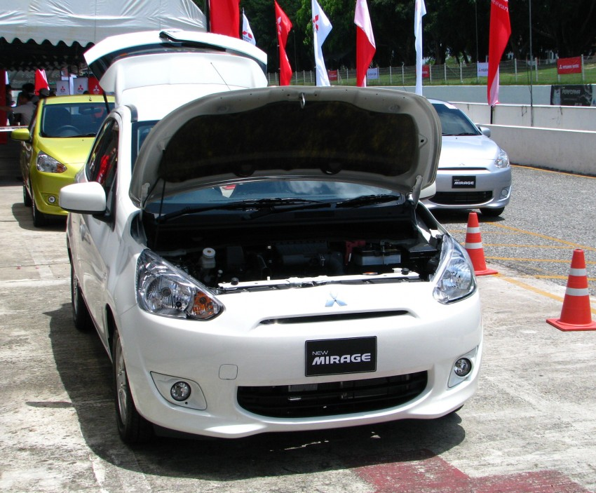 Mitsubishi Mirage previewed, on a Thai race track Image #108997