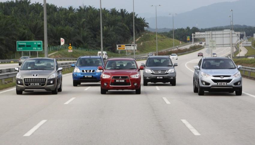 SUV shootout: Mitsubishi ASX vs Nissan X-Trail vs Honda CR-V vs Hyundai Tucson vs Peugeot 3008! Image #80481