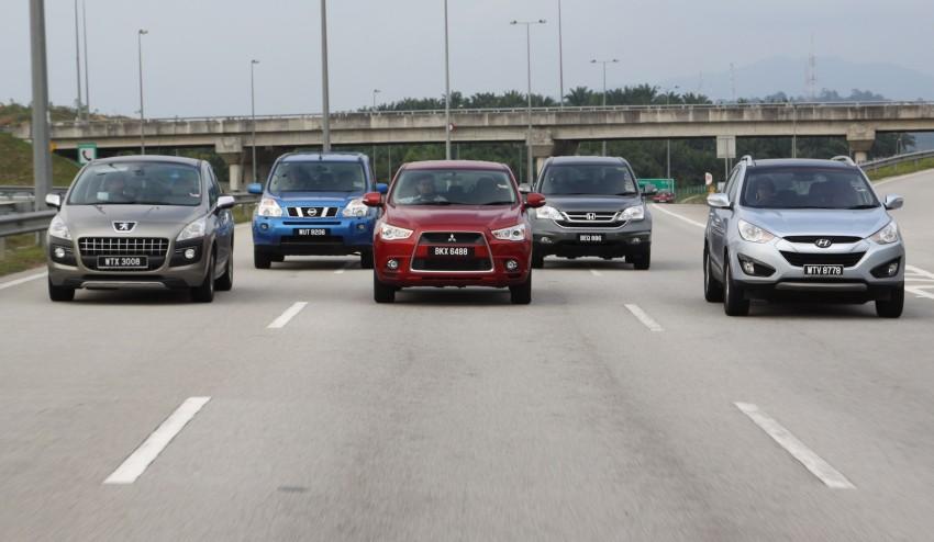 SUV shootout: Mitsubishi ASX vs Nissan X-Trail vs Honda CR-V vs Hyundai Tucson vs Peugeot 3008! Image #80483