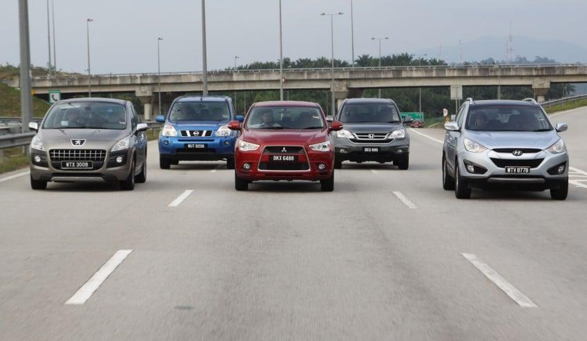 SUV shootout: Mitsubishi ASX vs Nissan X-Trail vs Honda CR-V vs Hyundai Tucson vs Peugeot 3008! Image #154051