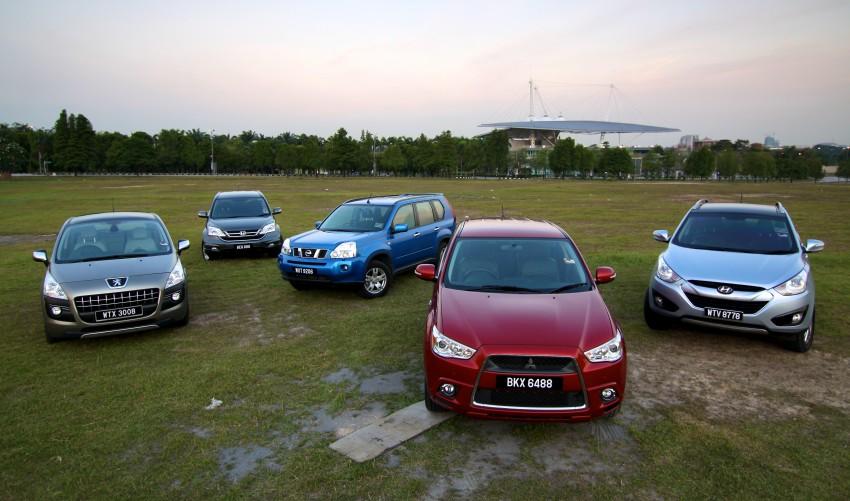 SUV shootout: Mitsubishi ASX vs Nissan X-Trail vs Honda CR-V vs Hyundai Tucson vs Peugeot 3008! Image #154045