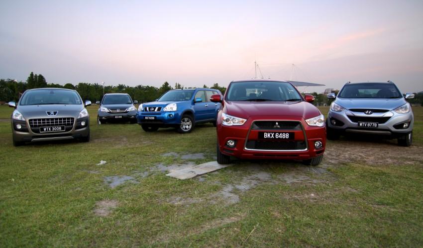 SUV shootout: Mitsubishi ASX vs Nissan X-Trail vs Honda CR-V vs Hyundai Tucson vs Peugeot 3008! Image #80491