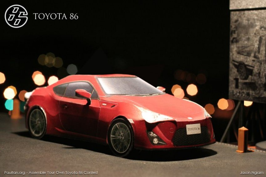 Toyota 86 assembled. Photo taken. Prize will be won. Image #104262