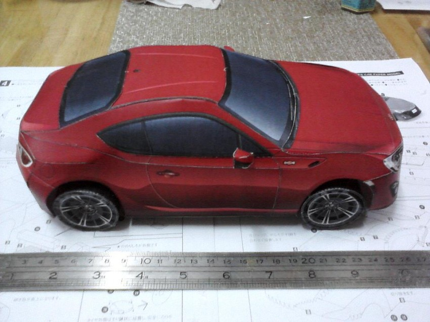 Toyota 86 assembled. Photo taken. Prize will be won. Image #104264