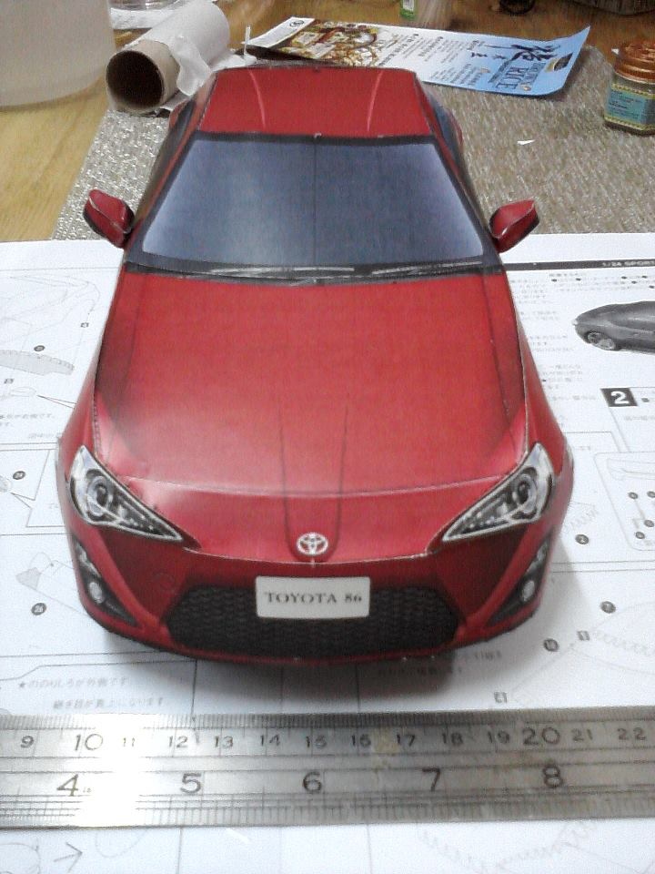 Toyota 86 assembled. Photo taken. Prize will be won. Image #104265