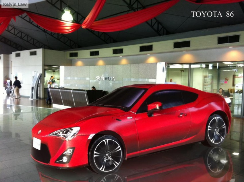 Toyota 86 assembled. Photo taken. Prize will be won. Image #104267