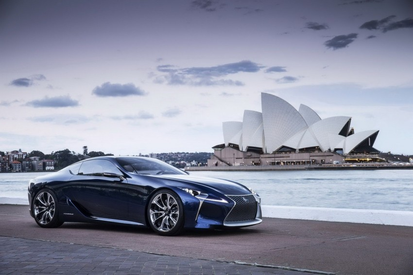 Lexus LF-LC Blue Concept looking great in Sydney Image #136817