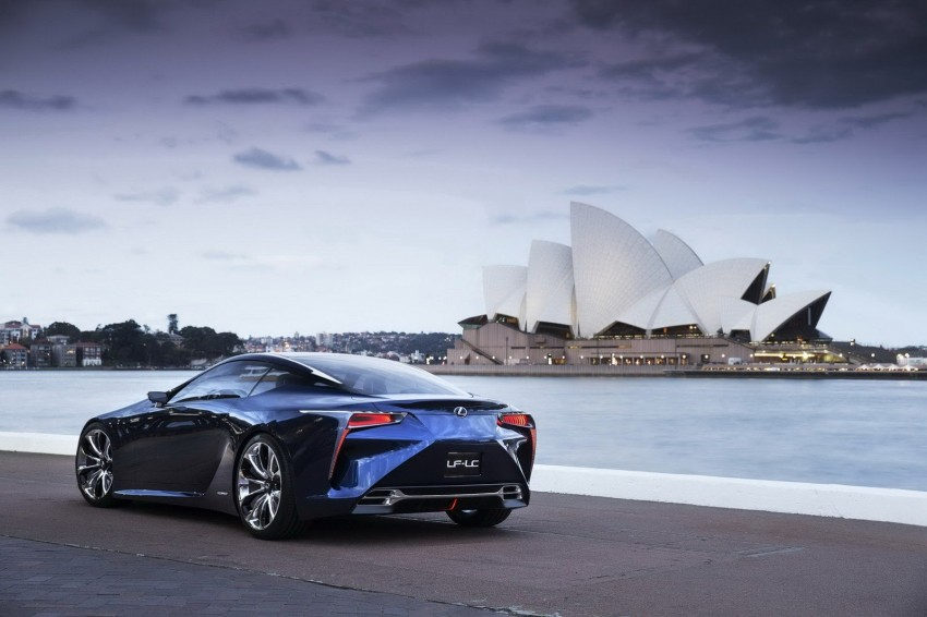 Lexus LF-LC Blue Concept looking great in Sydney Image #136818