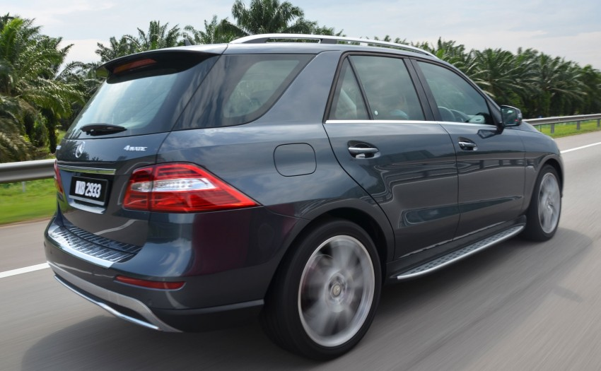 DRIVEN: Mercedes-Benz M-Class ML 350 4MATIC BlueEFFICIENCY previewed – a quick return to KL Image #120108