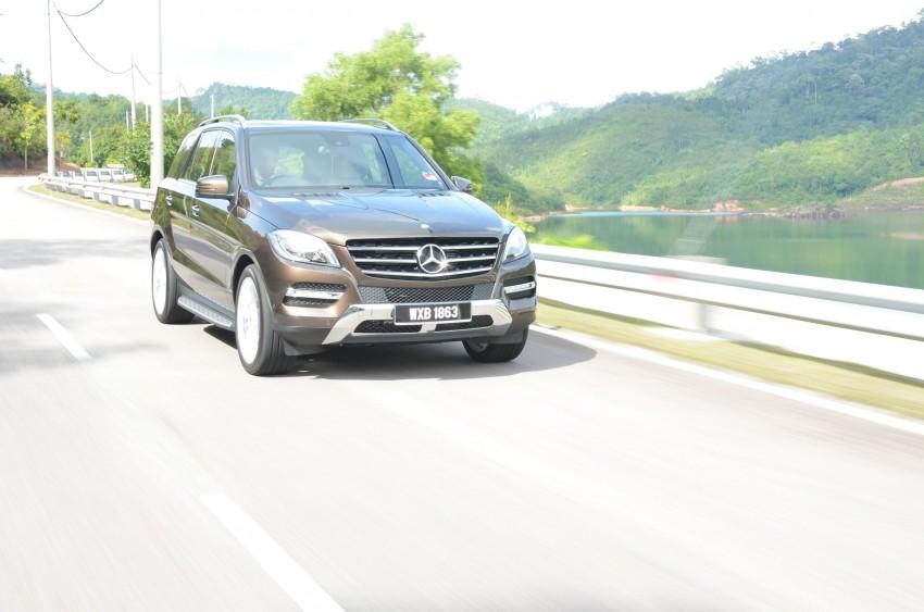 DRIVEN: Mercedes-Benz M-Class ML 350 4MATIC BlueEFFICIENCY previewed – a quick return to KL Image #120118