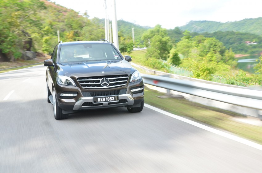 DRIVEN: Mercedes-Benz M-Class ML 350 4MATIC BlueEFFICIENCY previewed – a quick return to KL Image #120119