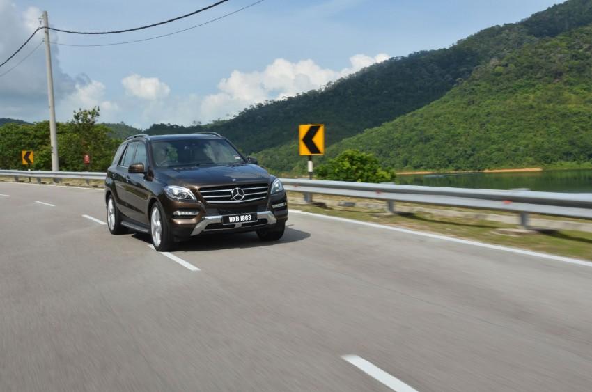 DRIVEN: Mercedes-Benz M-Class ML 350 4MATIC BlueEFFICIENCY previewed – a quick return to KL Image #120120