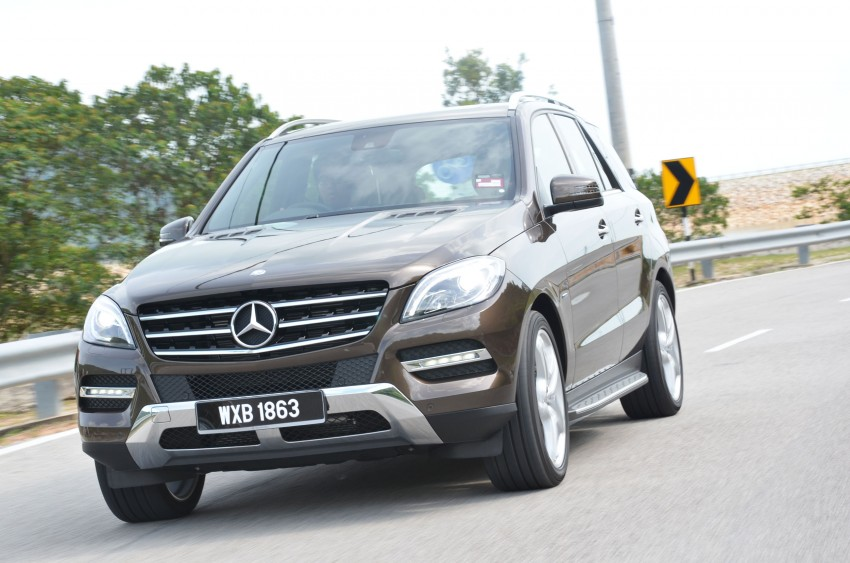 DRIVEN: Mercedes-Benz M-Class ML 350 4MATIC BlueEFFICIENCY previewed – a quick return to KL Image #120111