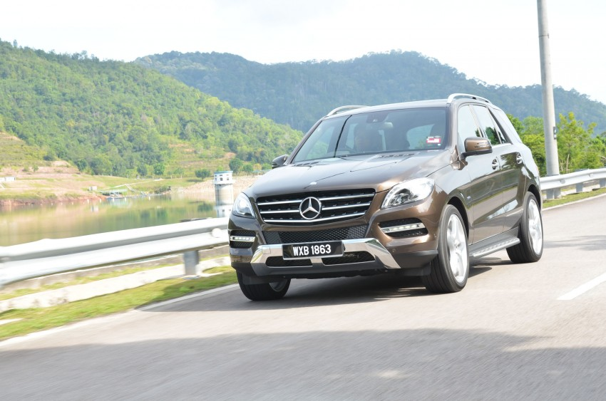 DRIVEN: Mercedes-Benz M-Class ML 350 4MATIC BlueEFFICIENCY previewed – a quick return to KL Image #120113