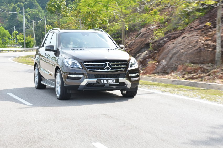 DRIVEN: Mercedes-Benz M-Class ML 350 4MATIC BlueEFFICIENCY previewed – a quick return to KL Image #120114