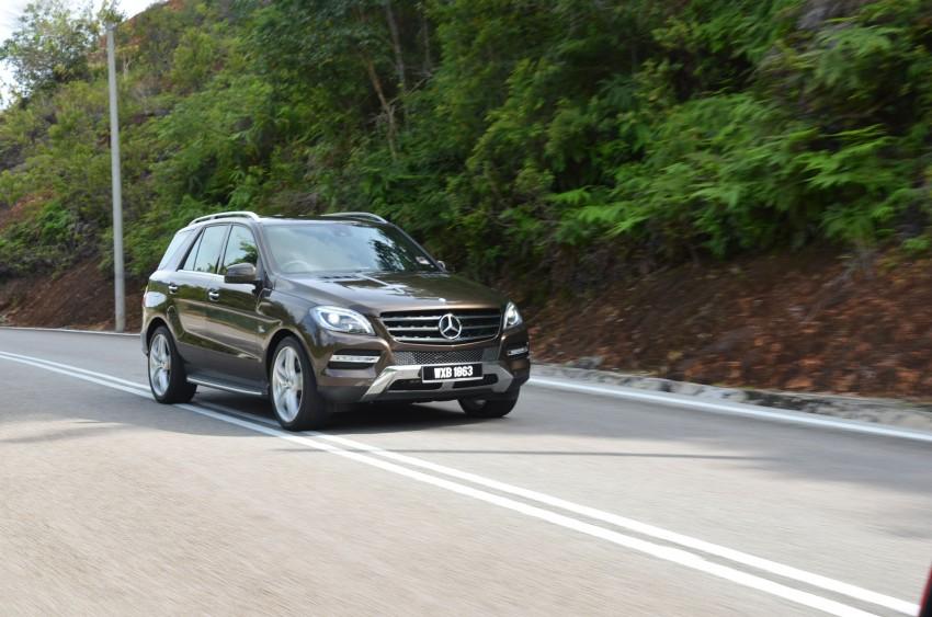 DRIVEN: Mercedes-Benz M-Class ML 350 4MATIC BlueEFFICIENCY previewed – a quick return to KL Image #120115