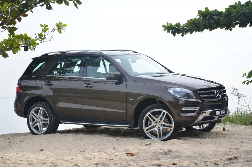DRIVEN: Mercedes-Benz M-Class ML 350 4MATIC BlueEFFICIENCY previewed – a quick return to KL Image #120123