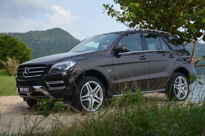 DRIVEN: Mercedes-Benz M-Class ML 350 4MATIC BlueEFFICIENCY previewed – a quick return to KL Image #120129