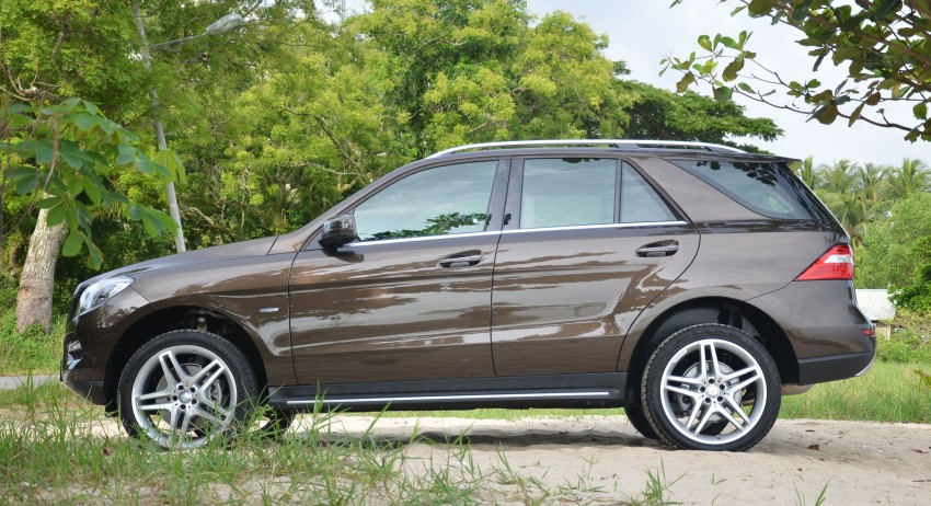 DRIVEN: Mercedes-Benz M-Class ML 350 4MATIC BlueEFFICIENCY previewed – a quick return to KL Image #120130