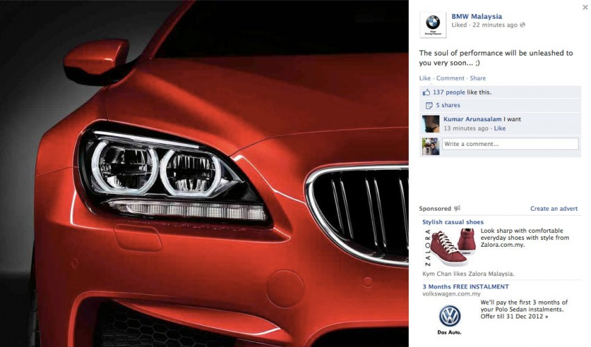 BMW Malaysia teases new car on FB, M6 coming soon Image #141339