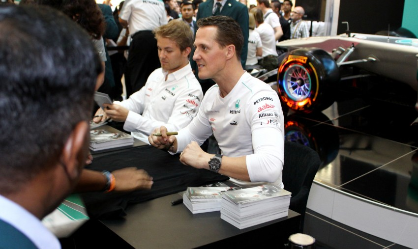 Michael Schumacher and Nico Rosberg meet & greet fans Image #95242