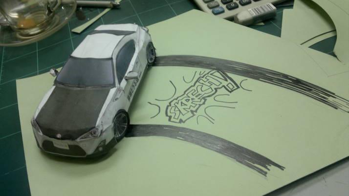 Toyota 86 assembled. Photo taken. Prize will be won. Image #104272