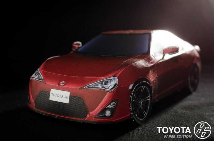 Toyota 86 assembled. Photo taken. Prize will be won. Image #104276