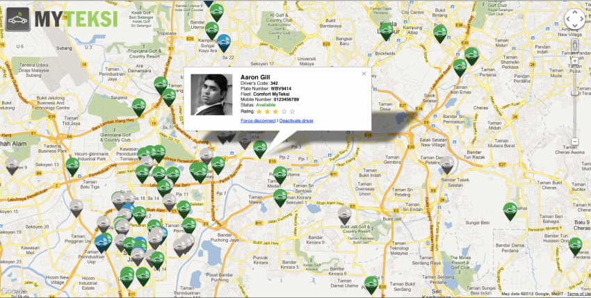 MyTeksi: book a taxi in Malaysia using an app Image #110544