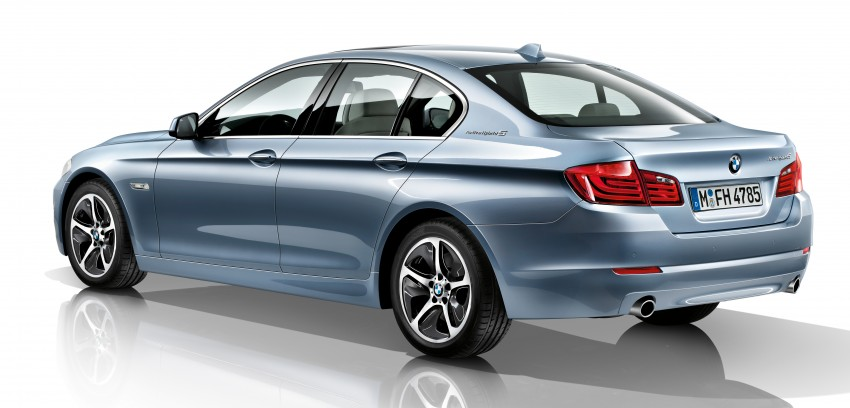 BMW ActiveHybrid 5: inline-6 turbo with an electric motor Image #70989