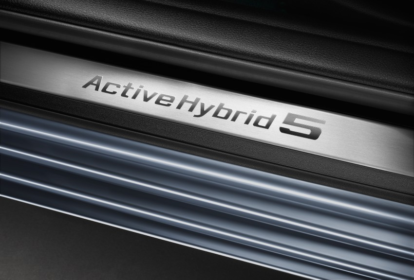BMW ActiveHybrid 5: inline-6 turbo with an electric motor Image #70995