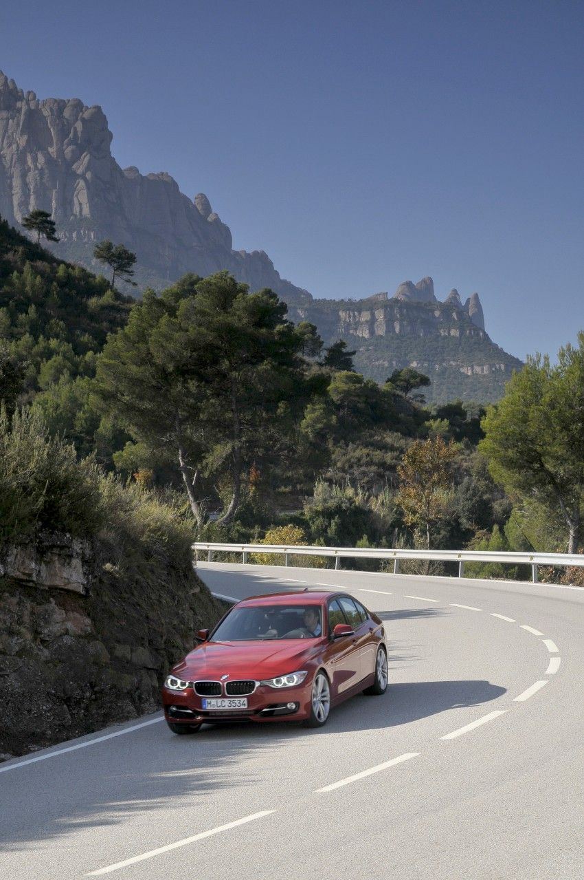 BMW F30 3-Series Test Drive Review – 320d diesel and new four cylinder turbo 328i sampled in Spain! Image #86091