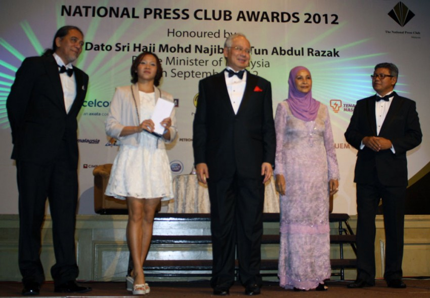 Pandelela Rinong awarded the NPC-Tan Sri SM Nasimuddin SM Amin 1Malaysian of the Year award Image #131460