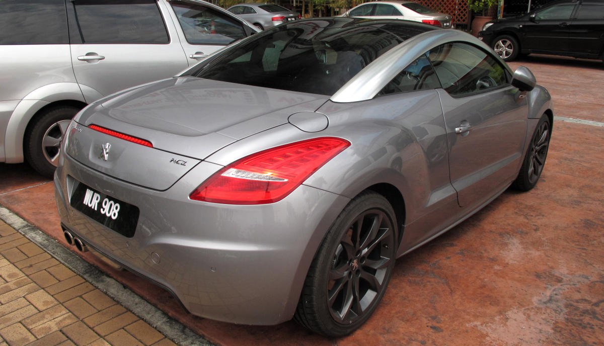 peugeot rcz - silver example already spotted months ago